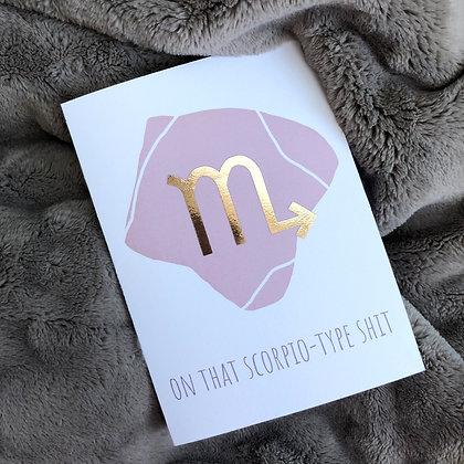Chrome Rose Gold Zodiac Greeting Cards