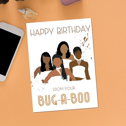 """""""Happy Birthday! From Your Bug-A-Boo"""" Greeting Card"""