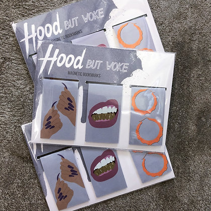 """Hood But Woke"" - Magnetic Bookmarks (3-pack)"