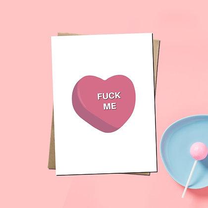 """Fuck Me"" - Greeting Card"