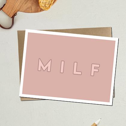 """MILF"" - Greeting Card"