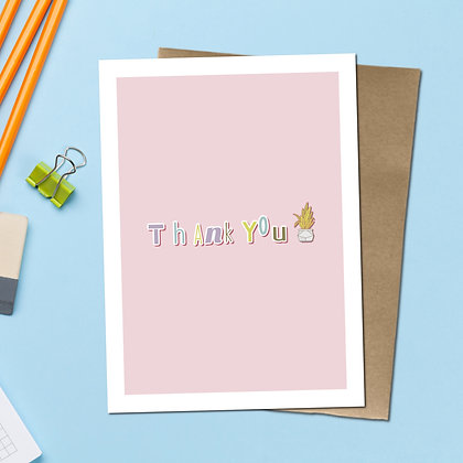 """""""Thank You"""" - Greeting Card"""