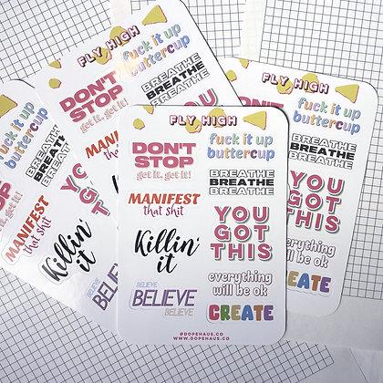 """Fly High"" - Sticker Sheet (9 stickers)"