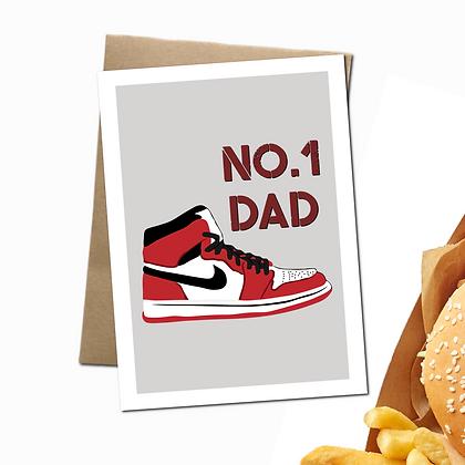 """Number 1 Dad"" - Greeting Card"