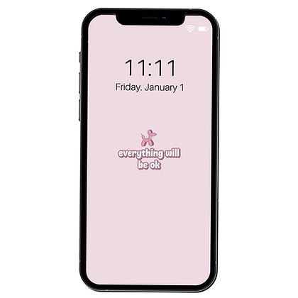 """Everything Will Be Okay"" -Phone Lock Screen/Wallpaper"