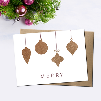 """""""Merry"""" - Greeting Card"""