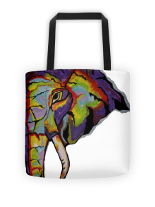 Purple Elephant Tote