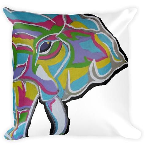 Psycho Elephant pillow white background
