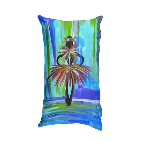 Blue Ballerina Pillow (Rectangle)