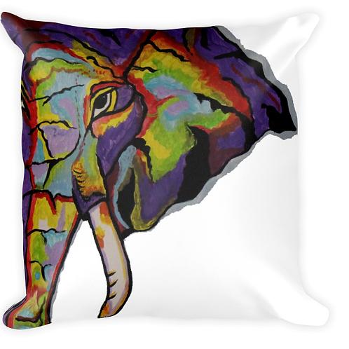 Purple Elephant pillow White background