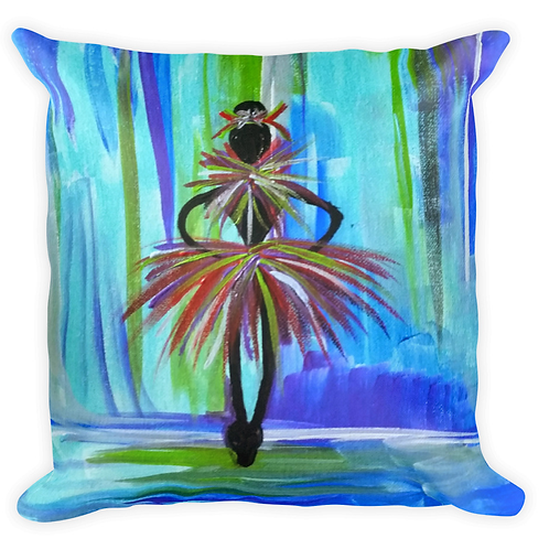 Blue Ballerina Pillow