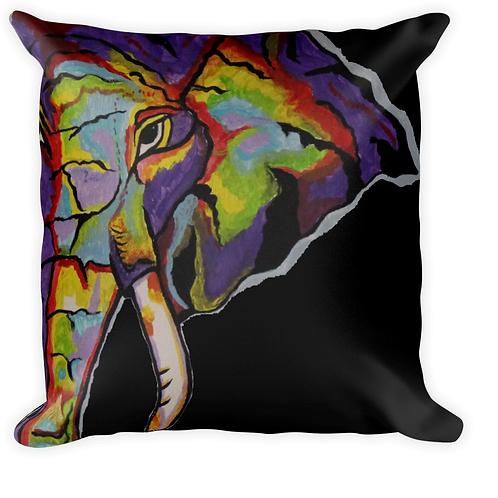 Purple Elephant black background