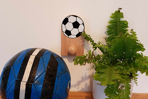 "Hand painted Football in solid Oak hook by ""Florence Ferne"""