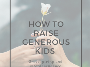RAISING GENEROUS KIDS