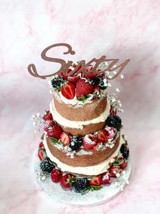 Sixty Classic Berry Sponge Cake