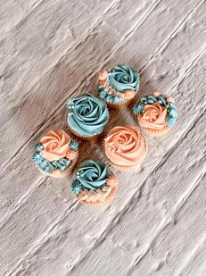 Orange & Blue Cupcakes