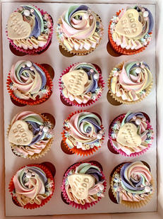 Multi-Colour Thank you Cupcakes
