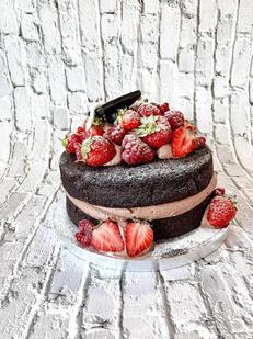 Chocolate & Strawberry Sponge