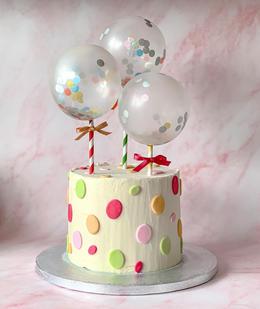Balloon Spot Cake