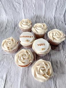 White Personalised Cupcakes