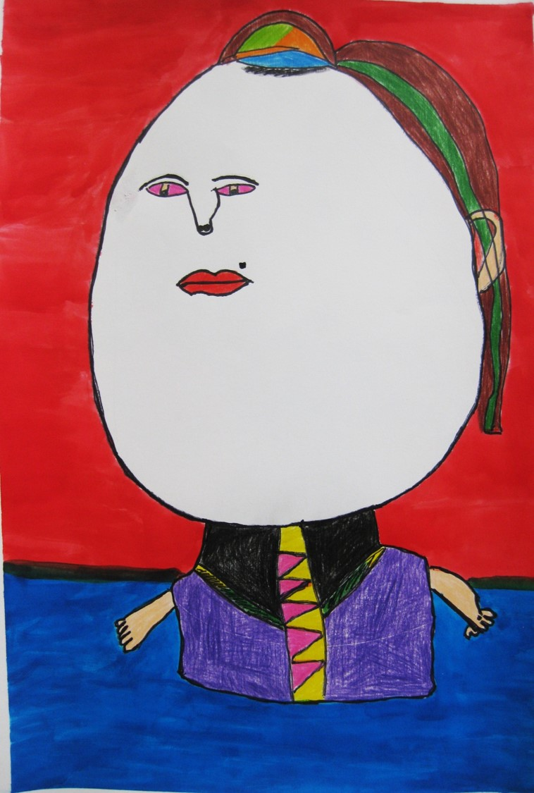 Titulo: Mujer con lunar