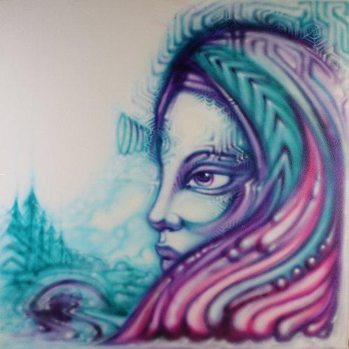 """3rdEye Dread"" Original Visionary Art Painting by Clay Chollar"