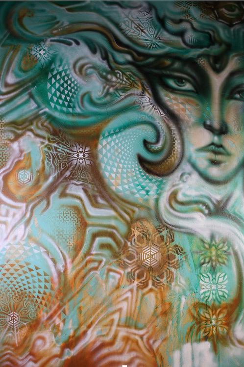 """Tree Spirit"" Original Visionary Art Painting by Clay Chollar"