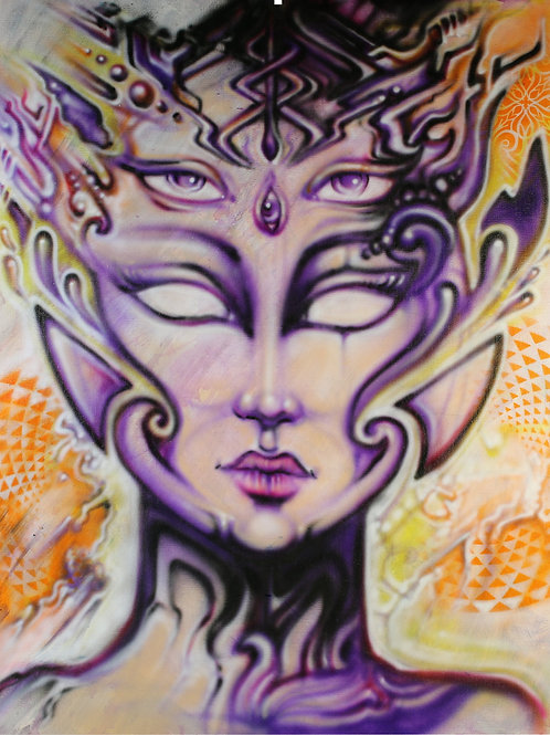 """EyeSee"" Original Visionary Art Painting by Clay Chollar"