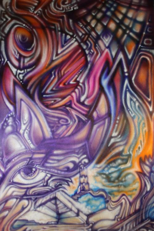 "CastleEye"" Original Visionary Art Painting by Clay Chollar"