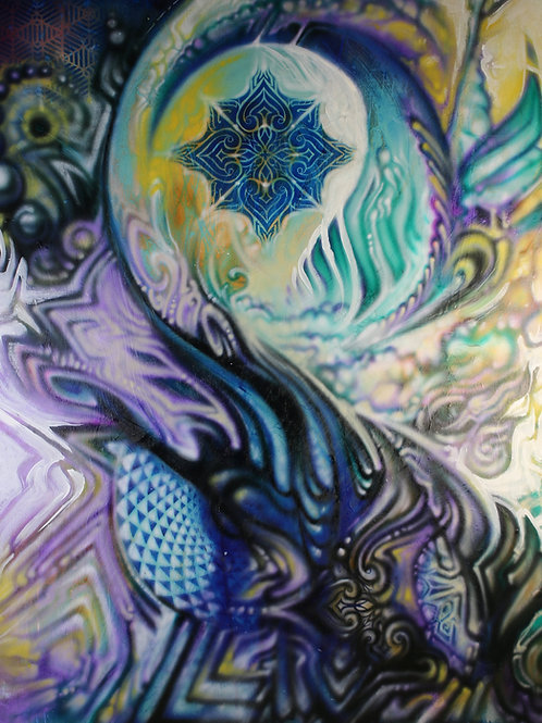 """StarBorn"" Original Visionary Art Painting by Clay Chollar"