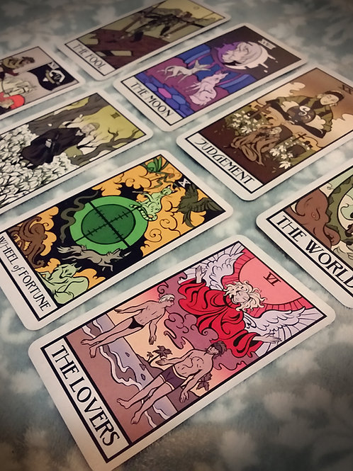 Fortune telling from Tarot cards - 3 descriptive questions.