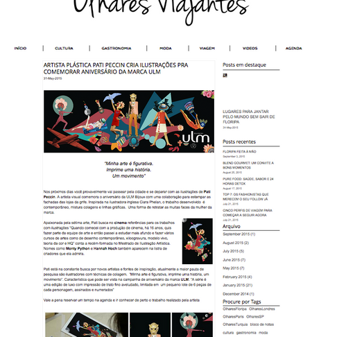 Olhares Viajantes entrevista sobre trabalho para a ULM