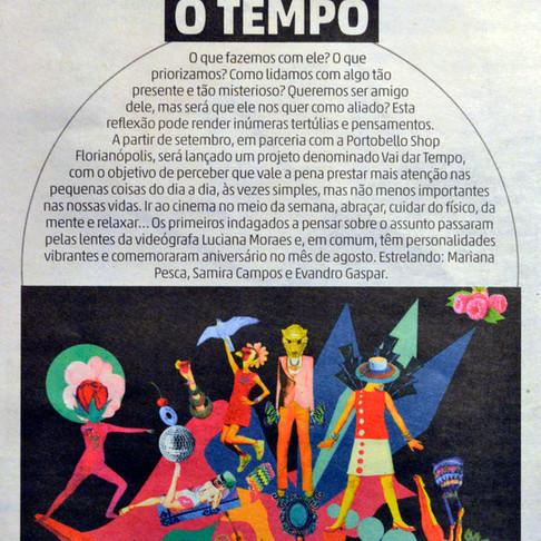 Minha ilustração no Diário Catarinense