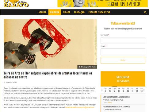 Divulgação da FAF no site Barato de Floripa
