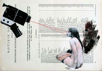 Colagem, xilogravura e bordado sobre página de livro  ✂️ Pati Peccin 2015 © ✂️