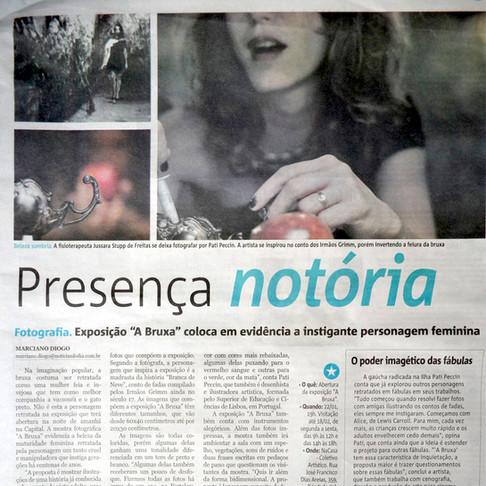 """""""A Bruxa"""" no Diário de Notícias"""