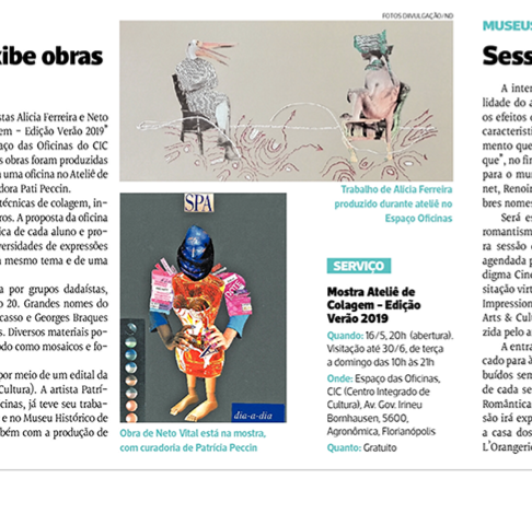 Exposição do Atelier de Colagem / jornal Notícias do Dia