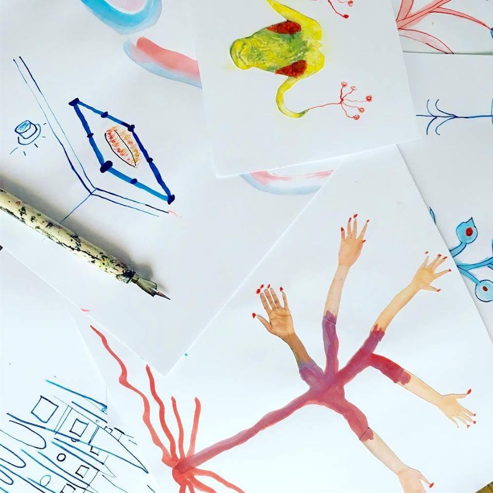 ilustrações feitas com bico de pena e nanquim