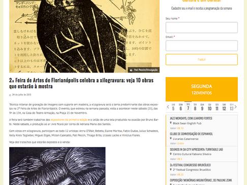 """Divulgação da FAF """"Celebra a Xilogravura"""" no site O Barato de Floripa"""