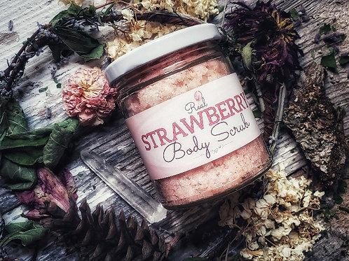 Real Strawberry Body Scrub