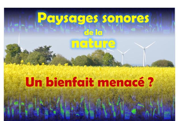 Conférence 'Paysages sonores de la nature'