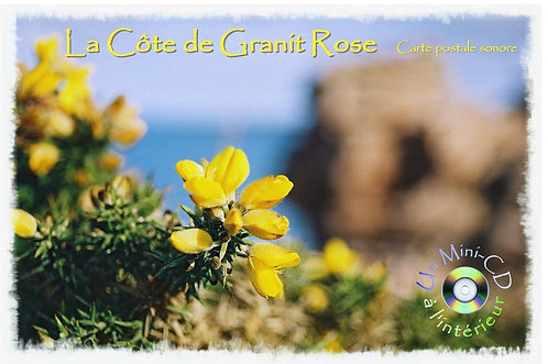 Carte postale Mini-CD La Côte de Granit Rose