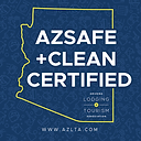 AZSAFE Clean Certified by Arizona Lodging and Tourism Association
