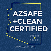 Arizona Safe Clean Certified Logo for Arizona Lodging and Tourism