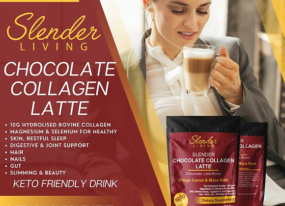 CHOCOLATE COLLAGEN LATTE 250Gr (+-20 Servings)