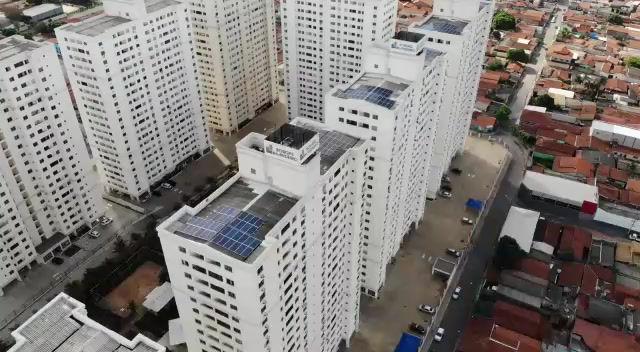 Residencial Brisa é pioneiro na instalação de usina solar em condomínio vertical em Goiânia