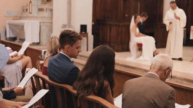 Film de mariage cérémonie à l'église