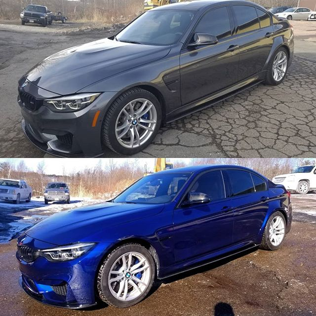 F80 M3 in Custom Dark Kandy Blue