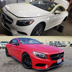 Benz in Custom Matte Red with Gloss Black Accents