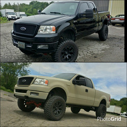 Instagram - Got this lifted F150 all wrapped up today in Camo Tan for the first